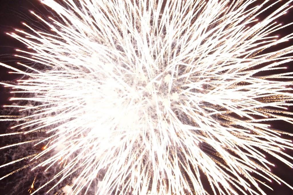 fuochi d'artificio sul porto