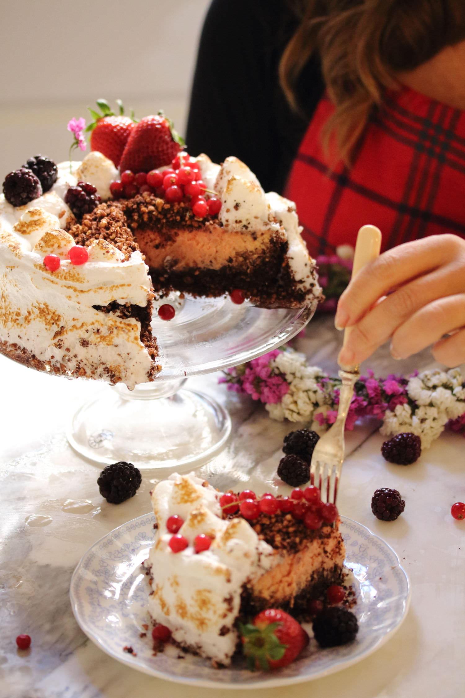 cheesecake al cacao e barbabietola rossa - Dolci Gusti